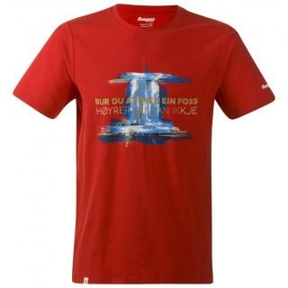 Férfi póló Bergans Foss Tee piros red